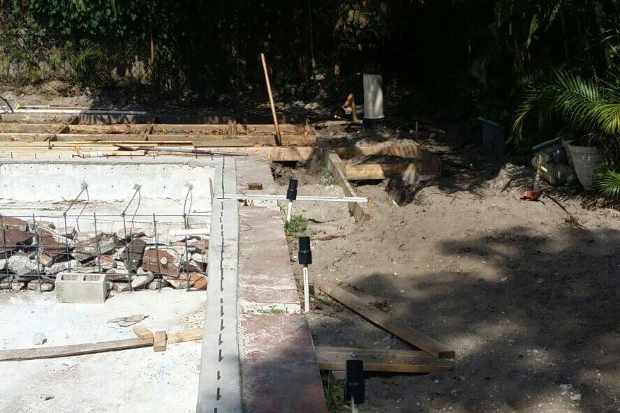 Process of Pool Remodel Pembroke