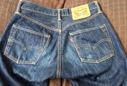 リーバイス501洗濯9回バックポケット