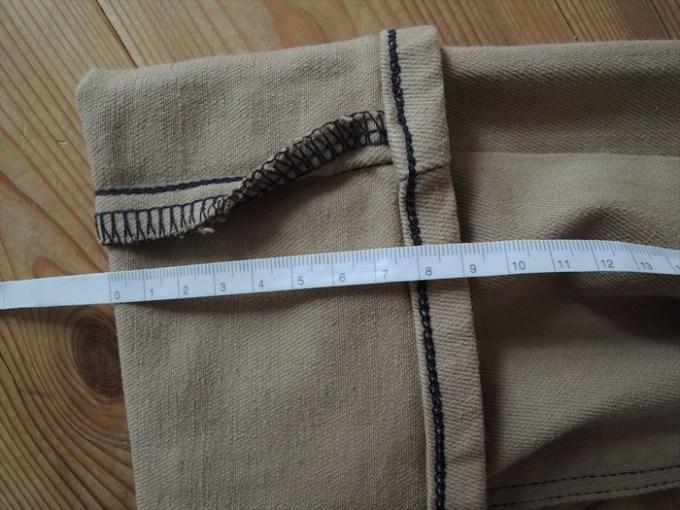 裾上げサイズを計測