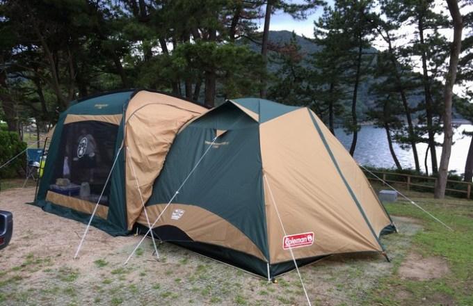 コールマンのテントとタープを連結