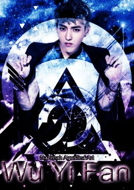 wu yi fan kris art by nazimah agustina