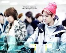 baekyeon bandara edit byun baekhyun kim taeyeon snsd exo couple manipulation selca by nazimah agustina