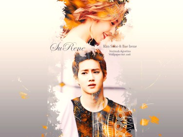 surene soft exo suho irene red velvet wallpaper by nazimah agustina