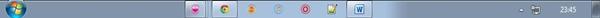 Cara buat taskbar program di tengah window 7 01