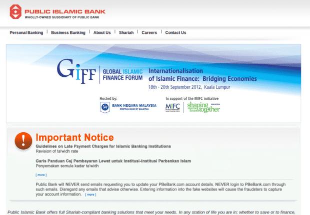Public Islamic bank Malaysia