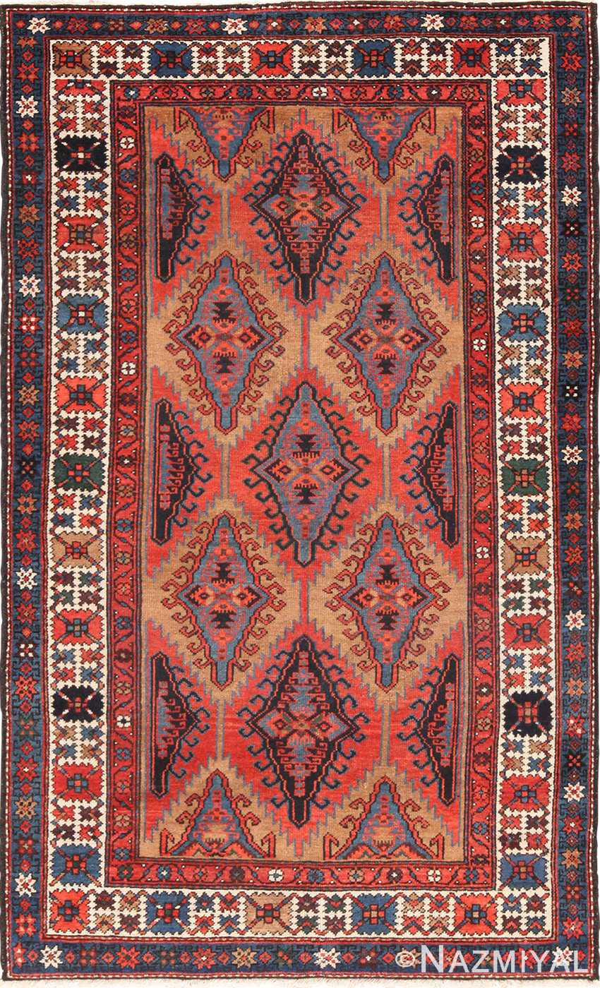 Small Tribal Geometric Antique Northwest Persian Rug 49641