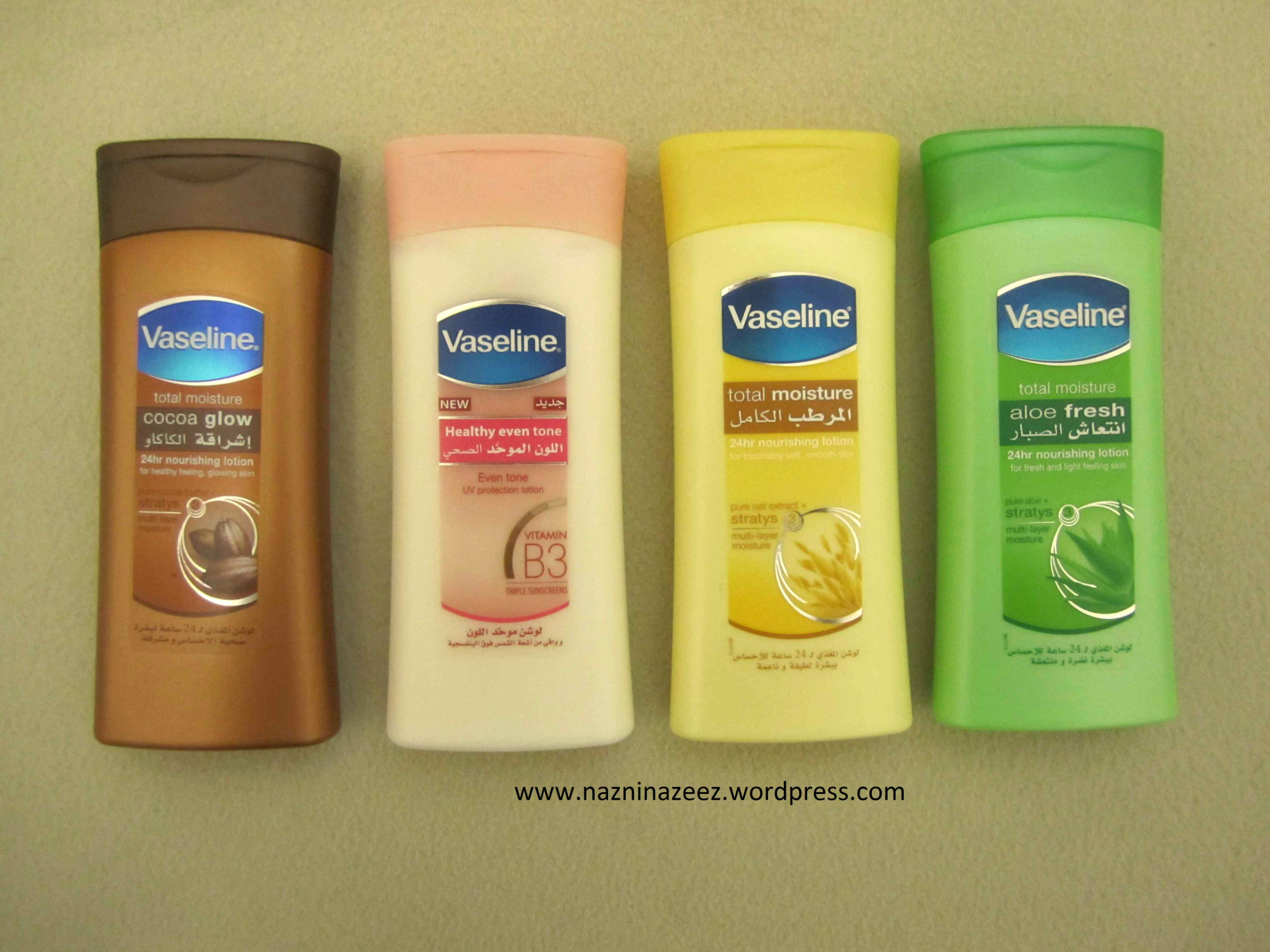 Review : Vaseline body lotions range!