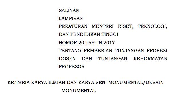 SALINAN LAMPIRAN PERMENRISTEKDIKTI NO. 20 TH. 2017 TTG TUNJANGAN PROFESI & KEHORMATAN - DISTRIBUSI II.pdf 2017-02-02 21-09-21