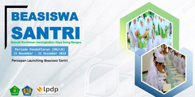 Persyaratan dan Jadwal Seleksi Beasiswa Santri LPDP 2018, Kuota 100 Orang