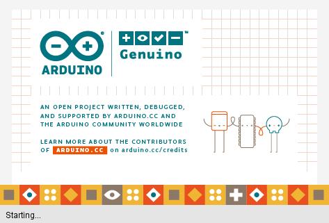 หน้าต่างเริ่มต้นโปรแกรม Arduino