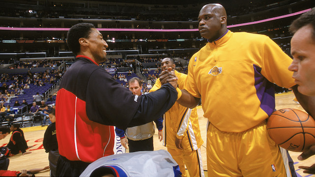 Shaquille O'Neal and scottie pippen