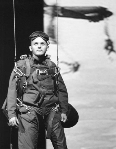 "Michael Morrison in ""Paratrooper"" 2004 One Act by Mark Jarman (photo: Stephen Moss)"