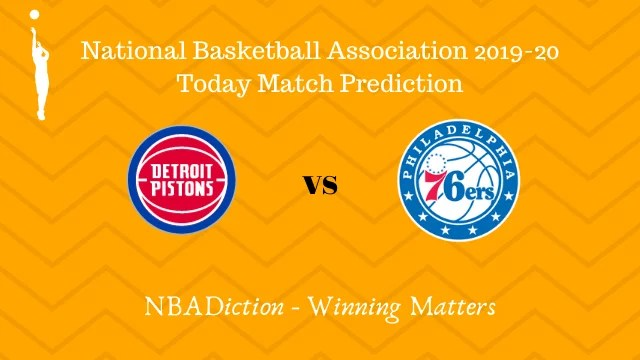 pistons vs 76ers 27102019 - Pistons vs 76ers NBA Today Match Prediction - 26th Oct 2019