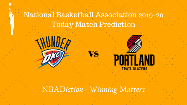 thunder vs trailblazers 31102019 - Thunder vs Trail Blazers NBA Today Match Prediction - 31st Oct 2019