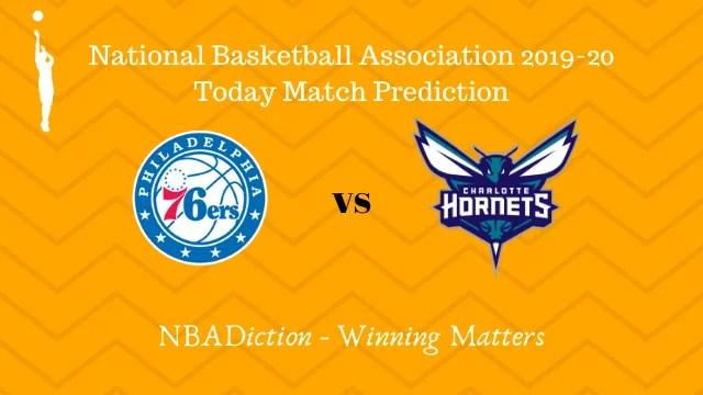 76ers vs hornets 11112019 - 76ers vs Hornets NBA Today Match Prediction - 10th Nov 2019