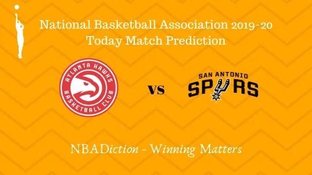 hawks vs spurs 06112019 - Hawks vs Spurs NBA Today Match Prediction - 6th Nov 2019