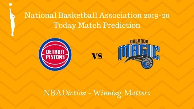pistons vs magic prediction 26112019 - Pistons vs Magic NBA Today Match Prediction - 26th Nov 2019