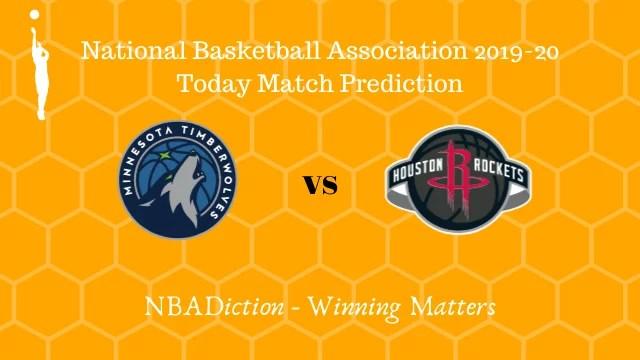 timberwolves vs rockets 17112019 - Timberwolves vs Rockets NBA Today Match Prediction - 17th Nov 2019