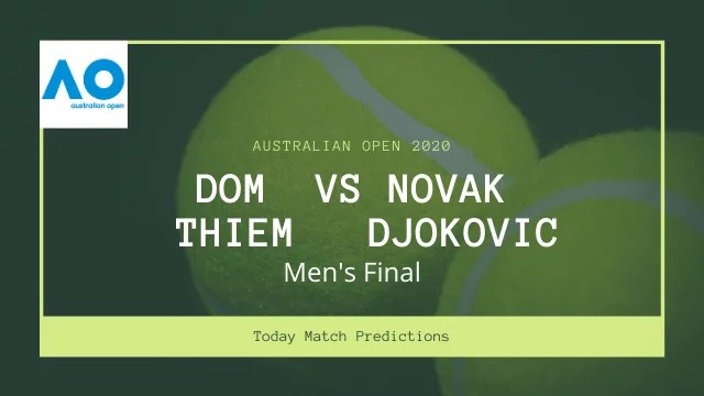dominic thiem vs novak djokovic prediction aus open2020 final - Dominic Thiem vs Novak Djokovic Prediction, Australian Open 2020 Men's final