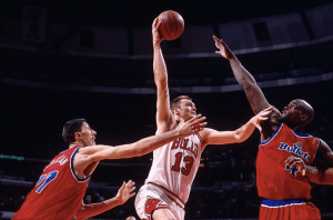 NBA Straya – NEVER FORGET: Luc Longley's 1st 1997 Playoff game – Bulls Vs Washington, April 25 1997