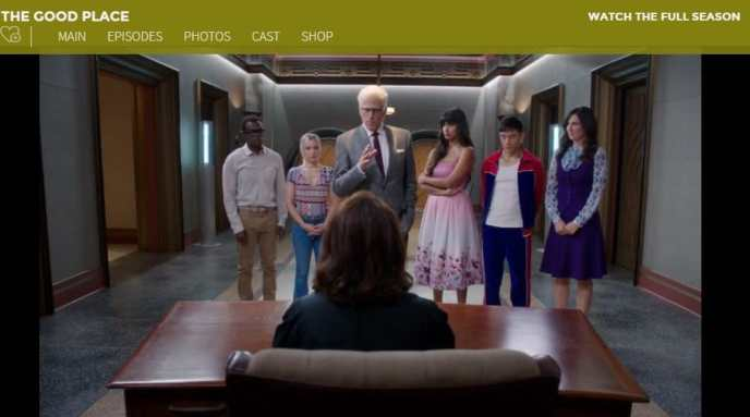 I am watching The Good Place on NBC from abroad