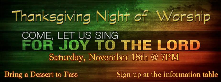 Thanksgiving Worship Night
