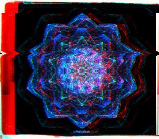 Deep Space Flower Mandala Glitched