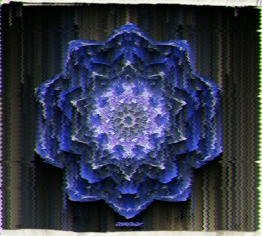 Deep Space Flower Mandala Glitch
