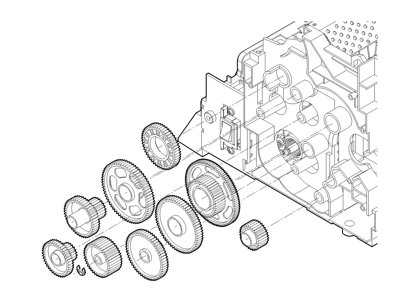 Machine Gear Placement Illustration