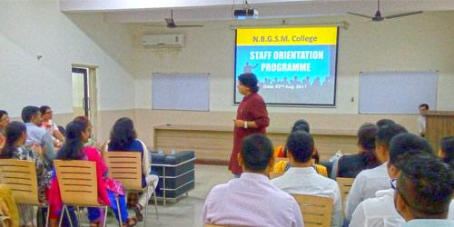 Staff Orientation Programme (2017-2018)