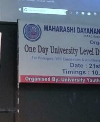 One Day University Level Disaster Management Workshop