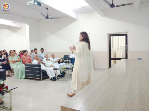 Mrs. Raman Manhas presented her views on Effective use of learning space
