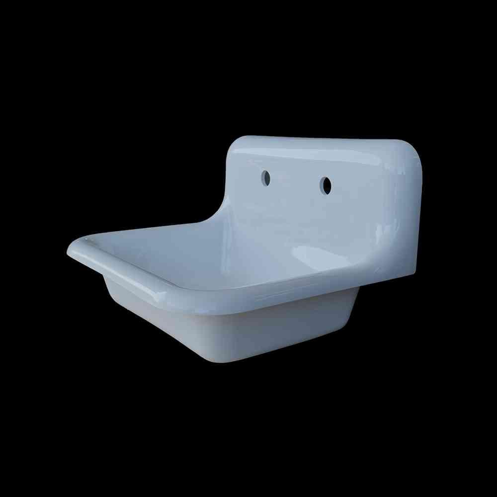 single basin high back bath sink model sb2418
