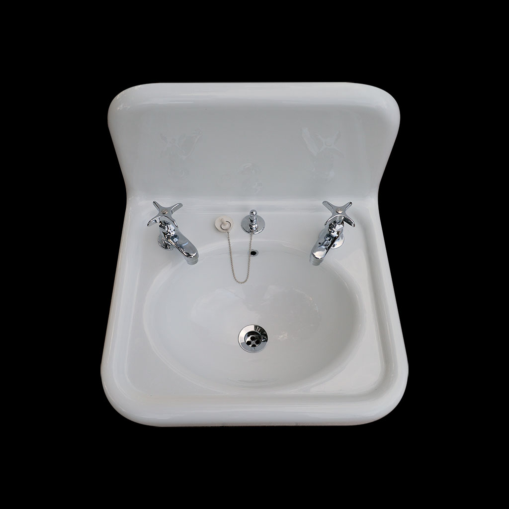 single basin high back sink with faucet drain model bs2018