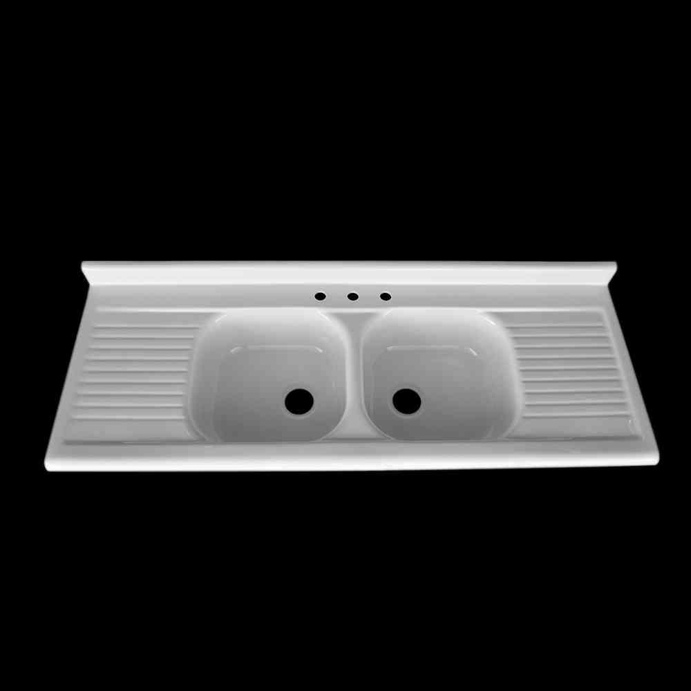 double bowl double drainboard sink model dbdw6625