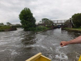 Weir wash on the left, lock on the right
