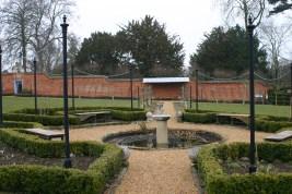 Centre fountain in the Walled Garden