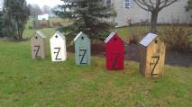 mini outhouses from pallets