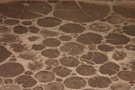 Wooden slices floor...