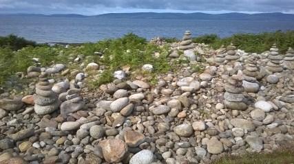 Pebble Cairns on the beach...