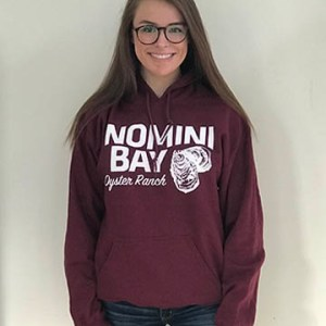 Women's Maroon Hooded Sweatshirt