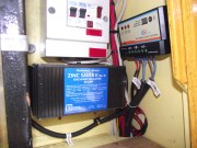Close up of Dual Battery Solar Controller