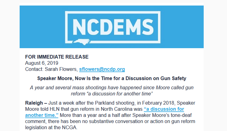Speaker Moore, Now Is the Time for a Discussion on Gun Safety