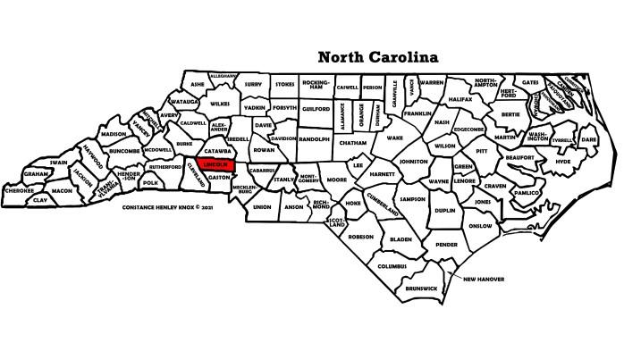 Lincoln County, North Carolina Map