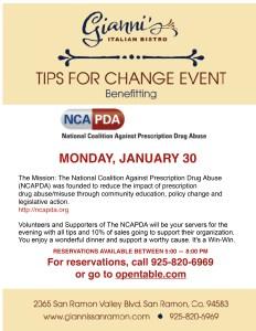 Tips for Change Fundraiser @ Gianni's Italian Bistro   San Ramon   California   United States