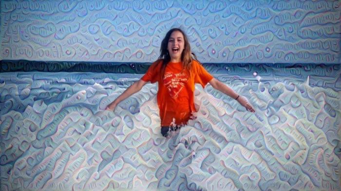 Sadie in Atlantic Ocean