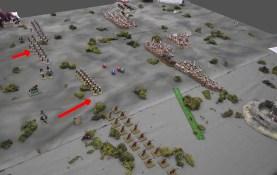 British infantry advance into their rifle range but remain outside Ansar range.