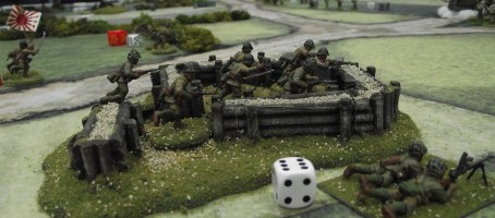 This Japanese squad was pinned down by artillery for much of the game.