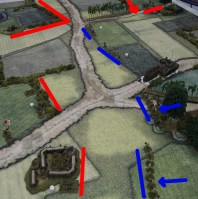 End of the game. The Japanese infiltration squad can be seen advancing in the upper right.