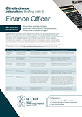 Climate change adaptation: Briefing note 2 Finance Officer